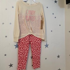 Rae Dunn Candy Hearts Pajama Set